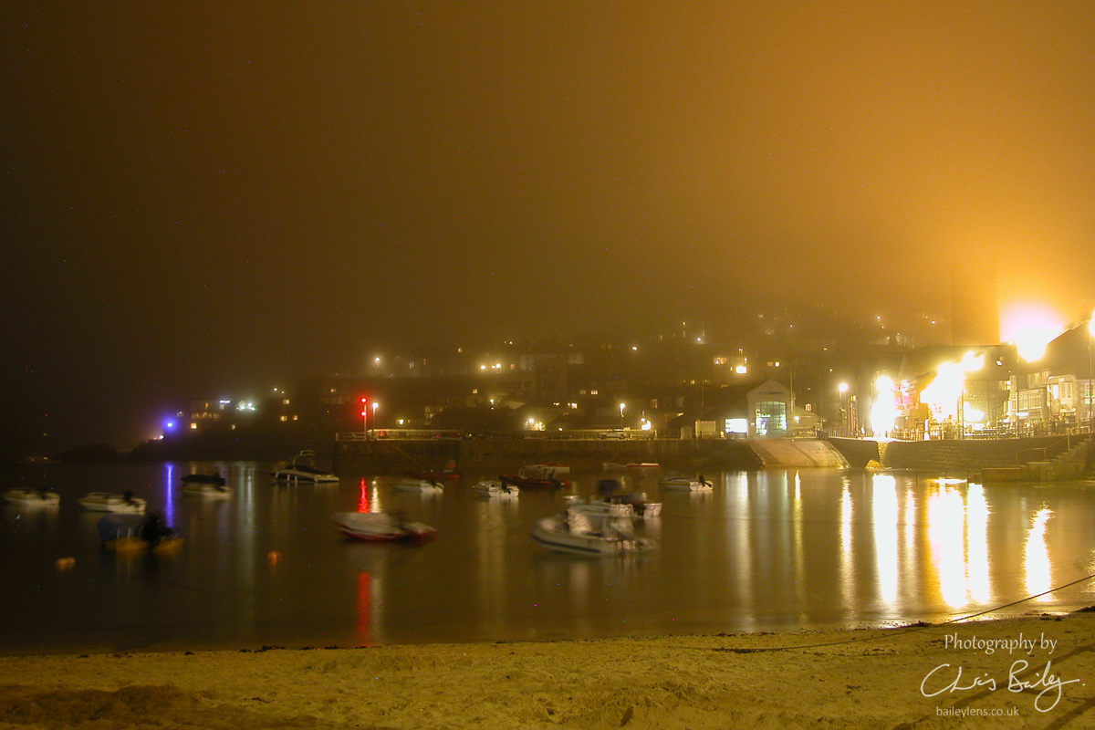 St Ives Harbour on a Misty Night